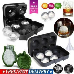 Ice Balls Maker Round Grenade Diamond Tray Mold Cube Whiskey Ball Cocktails Usa