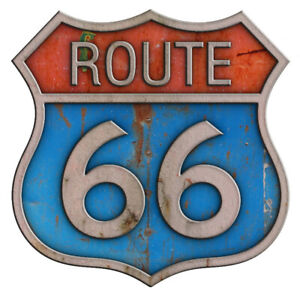 Rt 66 Old Sign Decal 4 Inches Rat Rod Vinyl Decal Sticker Hot Rod Classic