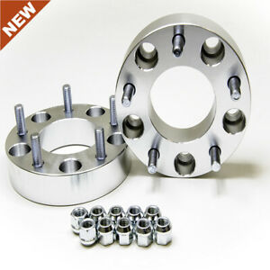 2pc 1 Wheel Spacers 5 Lug 5x5 5 Jeep Ford Dodge Silver