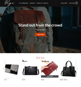Bags Turnkey Dropshipping Multi Vendor Affiliate Website Free Installation