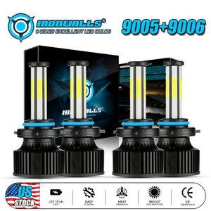 9005 9006 6 sides Led Headlight Bulbs For Toyota Corolla 2001 2013 High Low Beam