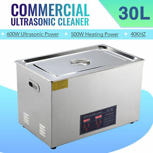 Professional 30l Ultrasonic Cleaning Jewelry Cleaner Machine W Heater Timer