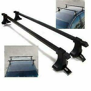 Universal Car Suvs Top Roof Rack Cross Bar 54 Luggage Carrier Aluminum Black