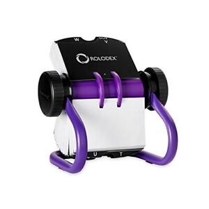Rolodex Open Rotary Business Card File 200 card Purple