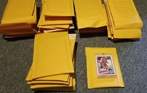 Total Lot Of 50 Sports Card Sized Bubble Mailers Card Not Included