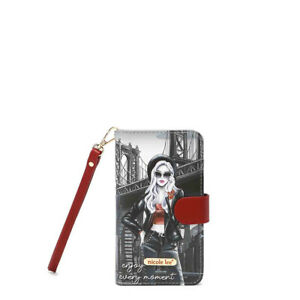HP6617 NICOLE LEE UNIVERSAL FIT PRINTED CELLPHONE CASE WRISTLET LIFE IN NEW YORK $24.99