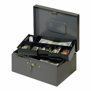 Steelmaster 7 compartment Cash Box With Safety Latch 4 3 8 X 10 1 4 X 7 1 4