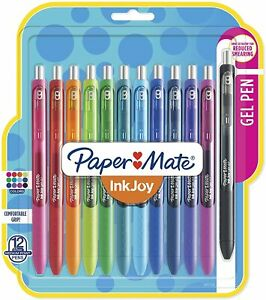 Paper Mate Inkjoy Gel Pens Medium Point Assorted Colors 12 Count