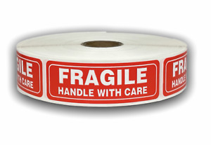 500 Labels 1x3 Fragile Handling Caution Warning Mailing Shipping Stickers