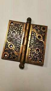 Antique Brass Plated Steel Arts And Craft Style Door Hinge