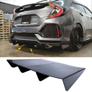 Black Rear Diffuser Assembly Cover 22x20 In Unpainted For Honda Civic 1985 2020