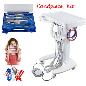 Us Dental Delivery Unit Mobile Cart Case 4 Hole Syringe High Low Handpiece Kit