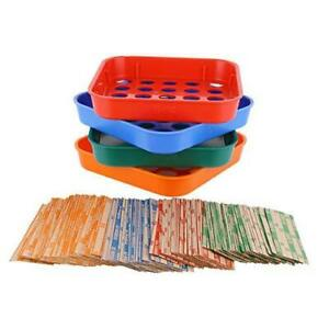 Coin Sorters Tray Coin Counters 4 Color coded Coin Sorting Tray Bundled With