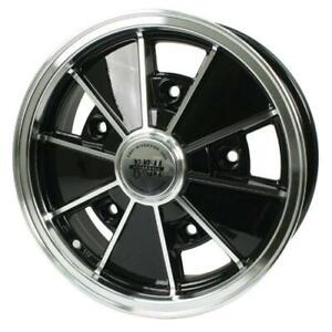 Brm Wheel Black With Polished Lip 5 Wide 5 On 205mm Vw