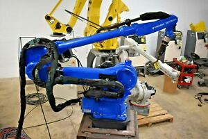 Yaskawa Motoman Ma3100 Complete Robotic Welding Cell With Positioner On Track