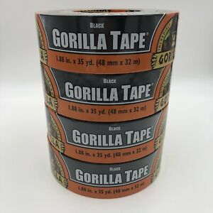 Black Gorilla Duct Tape Heavy Duty Double Thick 1 88 Inches X 35 Yard 4 Rolls