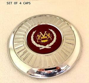Set Of Four Appliance Wire Wheel Center Caps fwd Wheels 00250