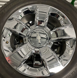 Set Of 4 20 Chevrolet Silverado Ltz Gm 20937762 Oem Rim Wheel 5651 Chrome