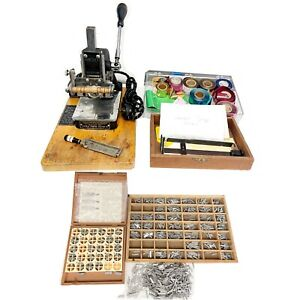Kingsley Machine Model M 50 Hot Foil Stamping Machine Used Working 2 Letter Sets
