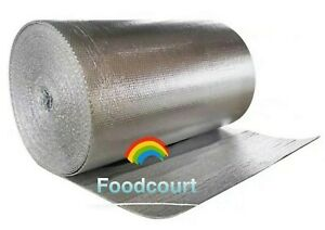Continuous Double Foil Insulation Reflective Bubble Roll 39 By Yard 39 x3ft