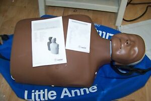 Laerdal Little Anne Aed Cpr Training Manikin Black With Bag
