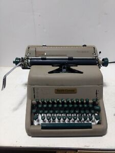 1950 s Green Key Smith Corona Pacemaker Typewriter Dust Cover