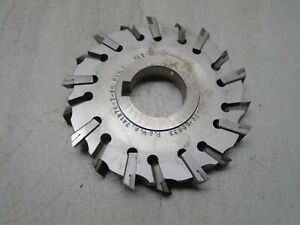 Horizontal Milling Cutter 5 X 3 4 Inch 1 1 2 Arbor carbide Tip