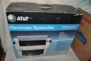 At t 6610 Surespell Ii Electric Typewriter Tested Working With 2 New Ribbons