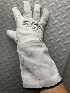 Welding Gloves Leather Goat Skin Tig Mig Ansi A2 Cut Protection S M L Xl Xxl