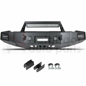 Front Bumper Built In 25 Led Light Bar 4x Work Light For 07 13 Chevy Silverado