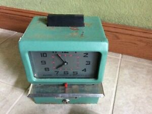 Vintage Croprint Time Recorder Company Time Clock Not Tested