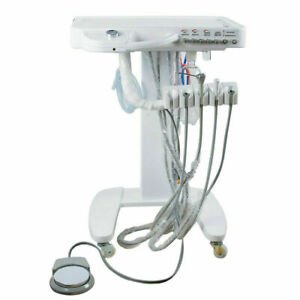 New 4 Hole Handpiece Portable Mobile Dental Delivery Unit System Cart Treatment
