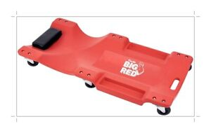 Big Red Trp6240 Torin Blow Molded Plastic Rolling Garage Shop Creeper 40 Red