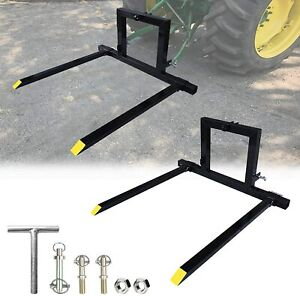 Adjustable 3 Point Hitch Pallet Fork Attachments Category 1 Tractor Carry Forks