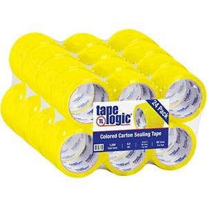 Tape Logic 3 Inch X 55 Yards Yellow Packing Tape 2 2 Mil Thick Pack Of 24 Rol