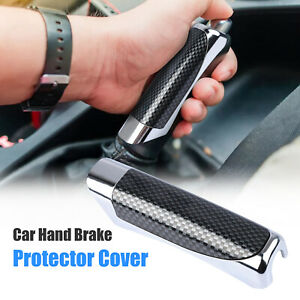 Universal In Car Auto Carbon Fiber Style Hand Brake Cover Protector Accessories