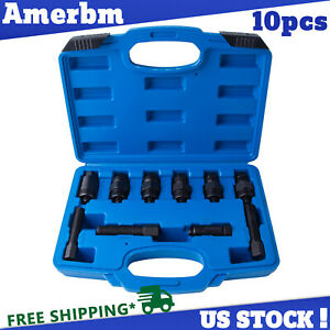 10pc Motorcycle Dirt Bike Flywheel Puller Set Universal Tool 15 Size Left Thread