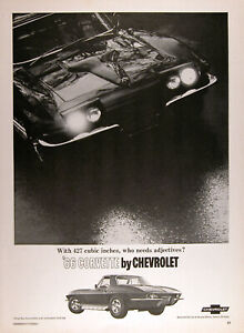 1966 Chevrolet Corvette Stingray Lot Of 2 Authentic Vintage Ads Free Shipping