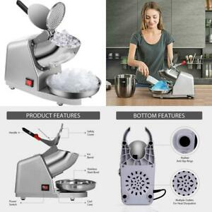 Vivohome Electric Dual Blades Ice Crusher Shaver Snow Cone Maker Machine Silver