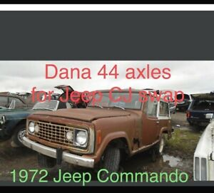 1972 Jeep Jeepster Commando Swap Conversion To Cj Dana 44 Front And Rear Axle