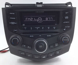 2003 2007 Honda Accord Stereo 6 Cd Changer Player Radio code Included Oem