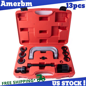 13pcs Upper Control Arm Bushing Removal Tool Service Kit For Ford Gm Chrysler