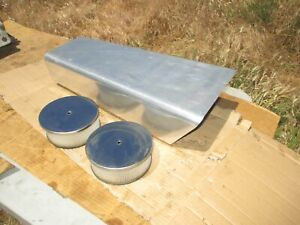 Tall Polished Aluminum Air Cleaner Street Boat Tunnel Ram Scoop 2x4 Dual Quad