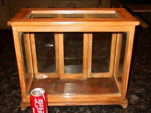 Antique Tabletop Countertop Wood Glass Display Case Cabinet 15586