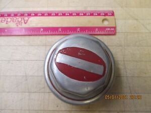 1920 S Unbranded Wheel Center Cap Grease Dust Cover Hubcap Pontiac Red