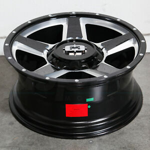 18x8 Black Milled Wheels Vision 390 Empire 6x130 50 set Of 4