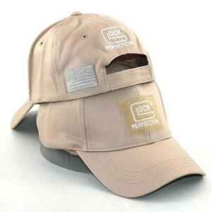 NEW GLOCK HAT Tactical Tan with American Flag $11.74
