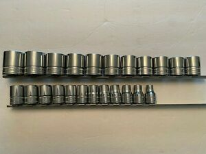 Snap On 23 Piece Flank Dr Metric 1 2 Drive Shallow 12pt Socket Set 32mm 10mm