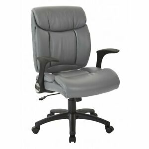 Scranton Co Faux Leather Managers Chair In Charcoal