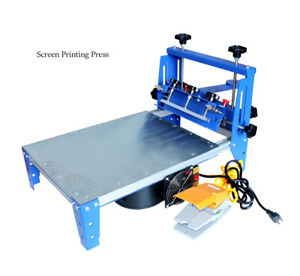 3 Directions Micro adjustable Vacuum Screen Printing Press Printer With Pallet